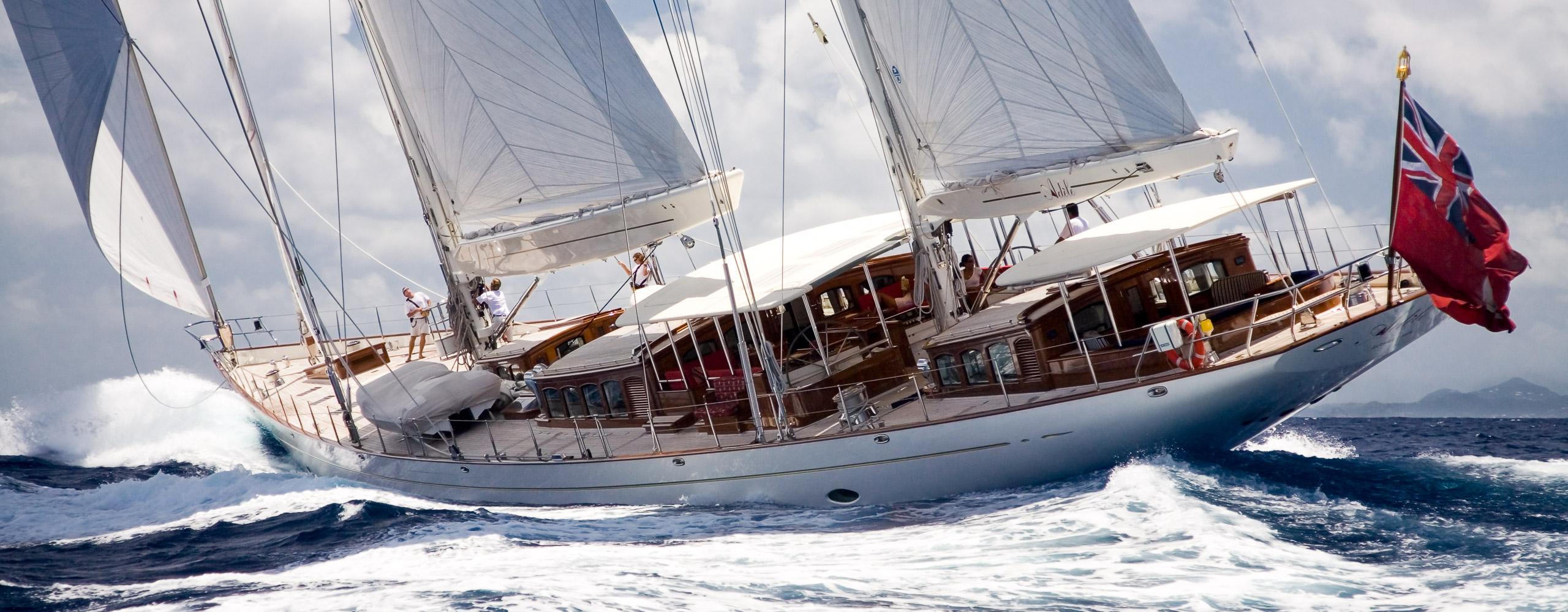 Adèle under sail