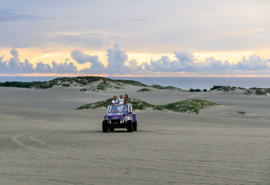 4 x 4 (named Barbie) in the sand dunes