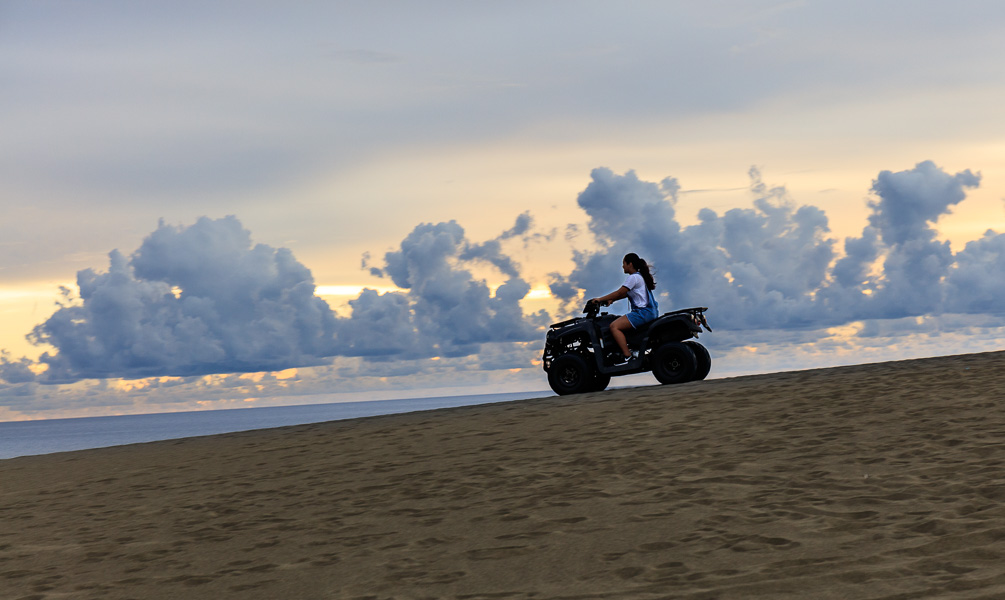 Mikee on the sand dunes