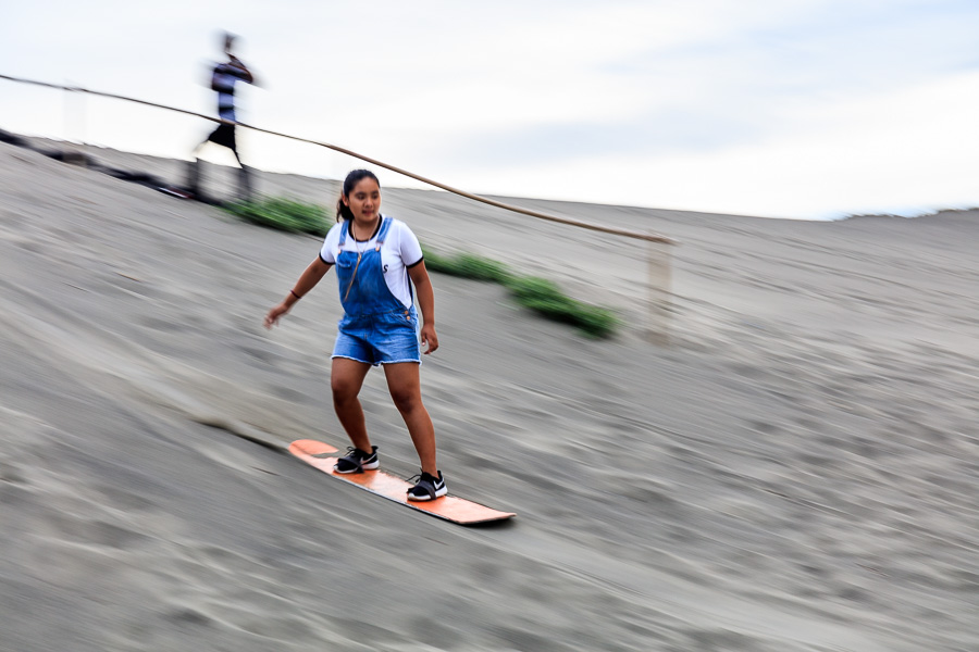 Mikee sand boarding