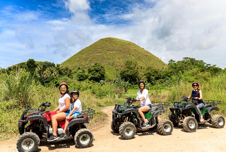 They went on a tour of Bohol in car and on quad bikes