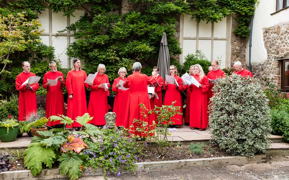 Back in the courtyard the church choir finished with some songs