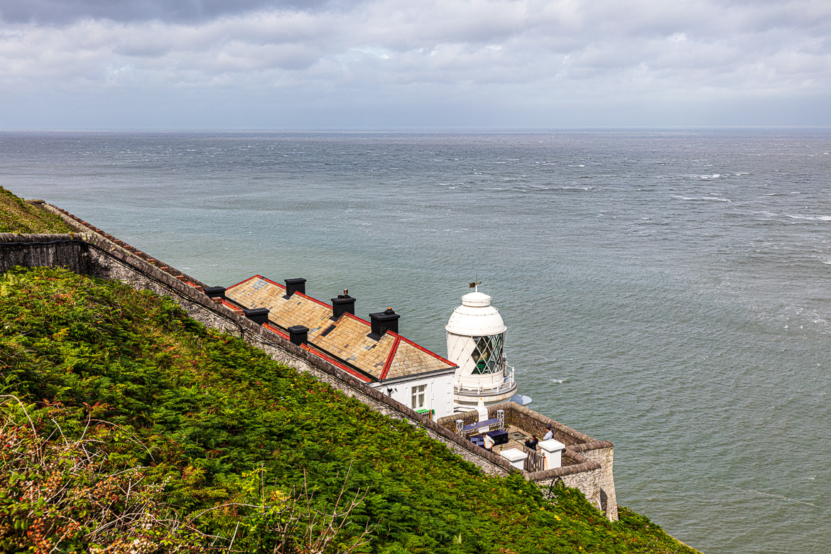 The lighthouse keeper's cottage at Foreland Point.