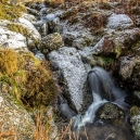 It was frost on the ground and the climb along the stream was icy