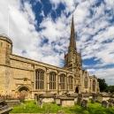 The parish church of St John the Baptist at Burford built in the 15th century