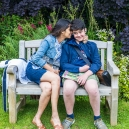 Eric and Mama share some secrets at Sudeley Castle